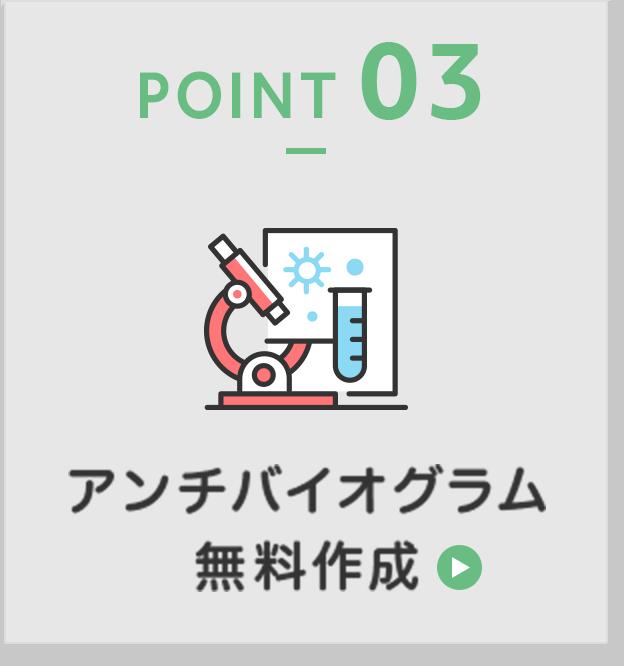 POINT03 アンチバイオグラム 無料作成